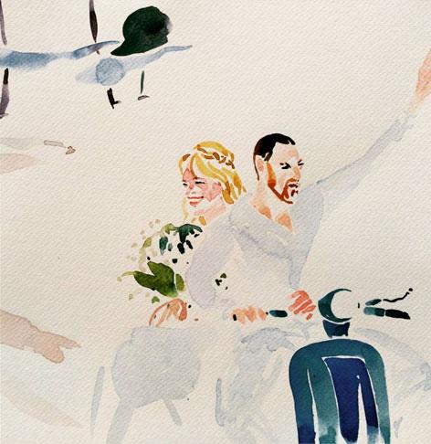 Yolopinto de Boda. Arte por encargo para regalo de boda