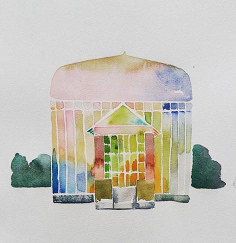 Arquitecturas. Arte por encargo Acuarelas