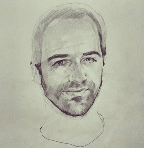 Retratos por encargo con grafito lapiz