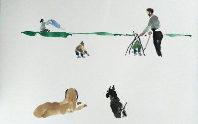 Yolopinto baja al parque con los perros y se le ocurre que ha visto algo