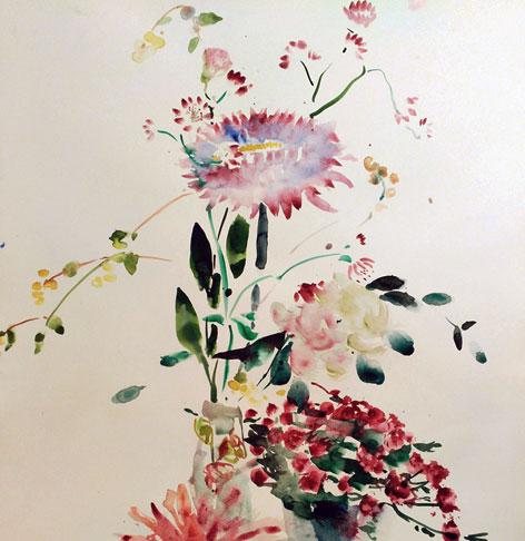 Acuarelas por encargo flores